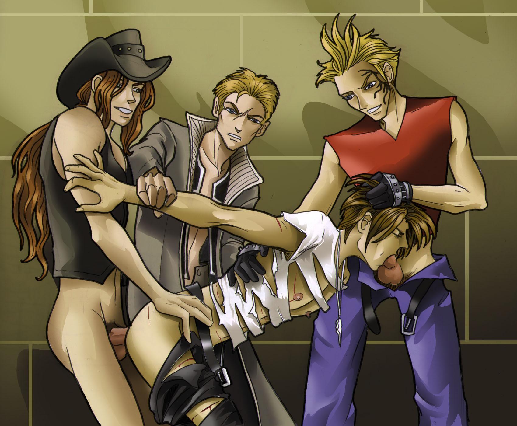gang bang Yaoi Squall Gang Bang 1-3-PLNunn-Final Fantasy 8-Theesome Above-