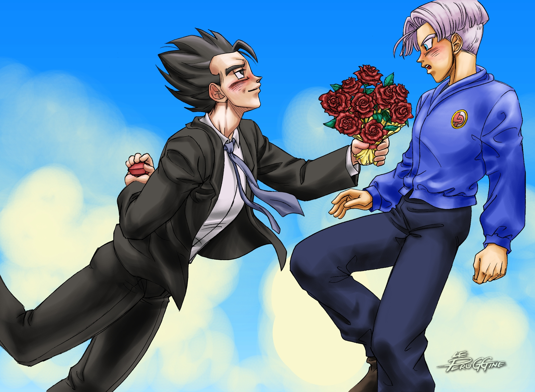 Will you marry me-Dragon Ball Z-Gohan x Trunks-Peruggine-Yaoi Island-Pic11