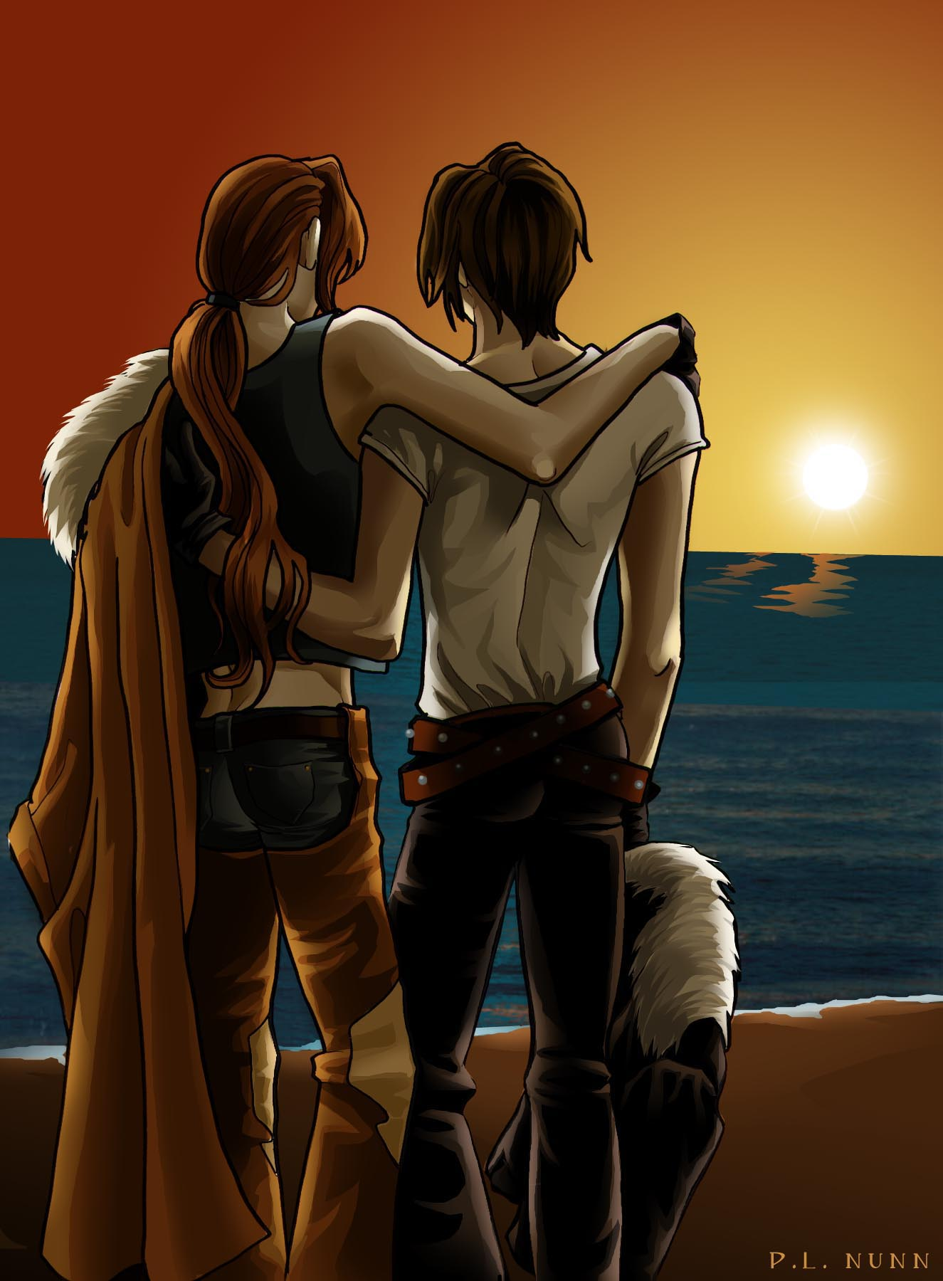 Sunset on Cactuar Island-PLNunn-Final Fantasy 8-Squall x Irvine-Yaoi Island-Pic114