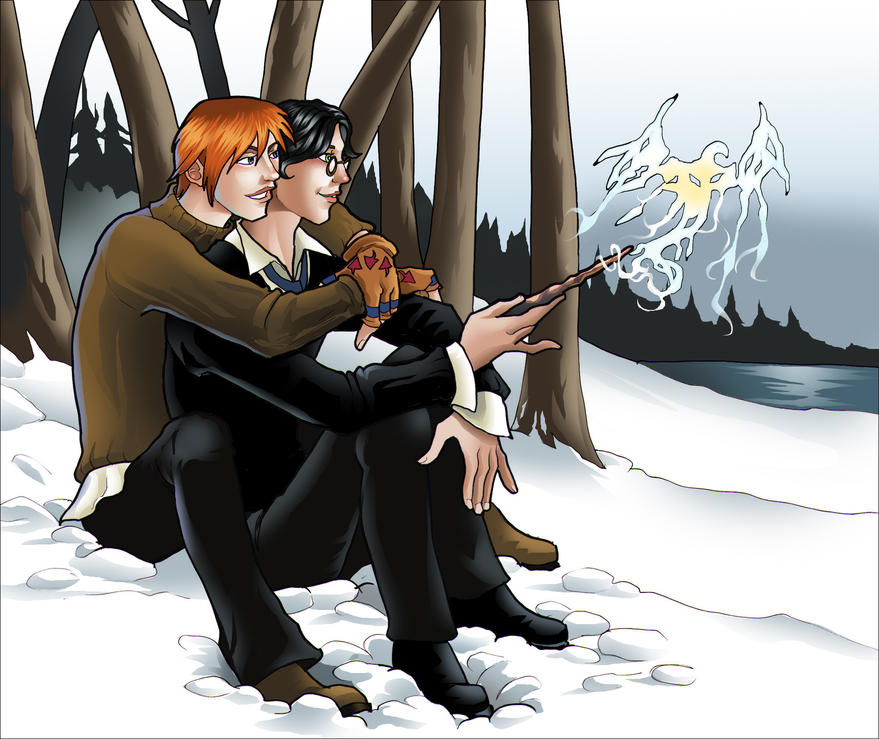 Practicing Romantic Magic-PLNunn-Harry Potter-Harry x Ron-Yaoi Island-Pic150