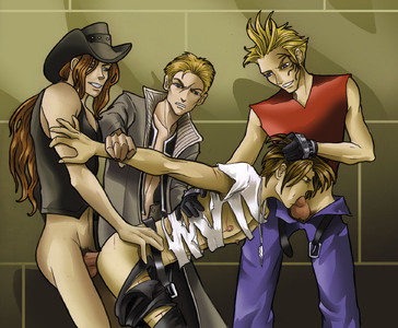 Squall Gang Bang 1-3-PLNunn-Final Fantasy 8-Theesome  Above-Yaoi Island-Thumb108