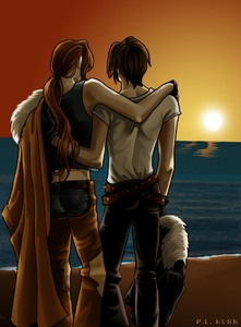 Sunset on Cactuar Island-PLNunn-Final Fantasy 8-Squall x Irvine-Yaoi Island-Thumb114