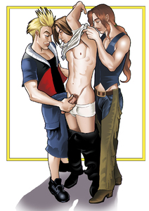 Undressing Squall Leonhart-PLNunn-Final Fantasy 8-Theesome  Above-Yaoi Island-Thumb120