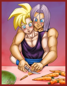 Cooking lesson 1  How to flirt-Dragon Ball Z-Gohan x Trunks-Peruggine-Yaoi Island-Thumb42