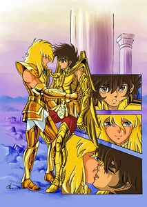 After Poseidon Temple Battle-Saint Seiya-Hyoga x Seiya-Noux-Yaoi Island-Thumb45